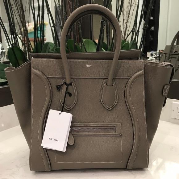 Celine Handbags - CELINE MINI LUGGAGE TOTE